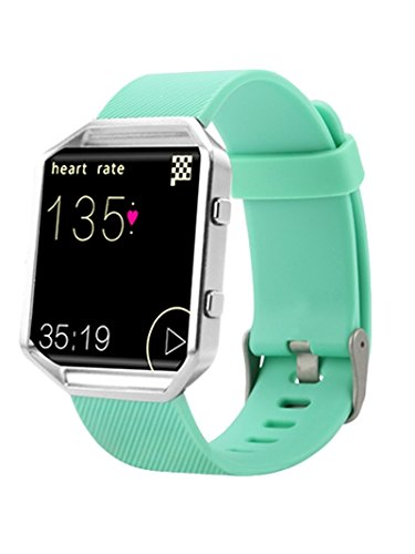 Newest Fitbit Blaze Band, BeneStellar Silicone Replacement Small Large Band Bracelet Strap for Fitbit Blaze Smart Fitness Watch, Teal, Small