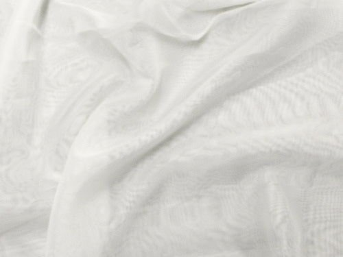 120' Wide Sheer Voile Chiffon Fire Retardant Resistant Drapery Fabric (Ivory VL-2)