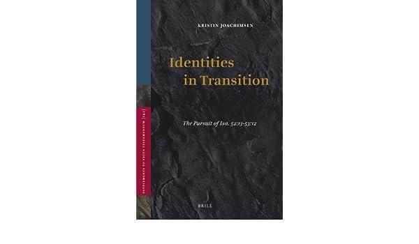 identities in transition joachimsen kristin