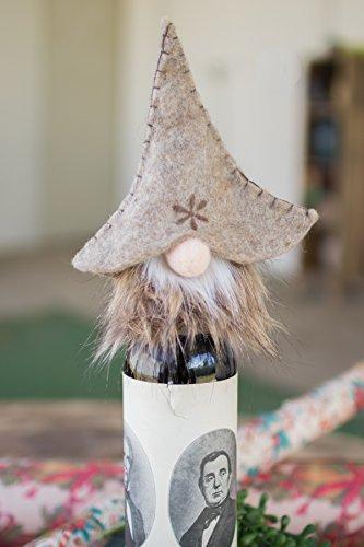 Kalalou Felt Gnome Wine Topper - 6