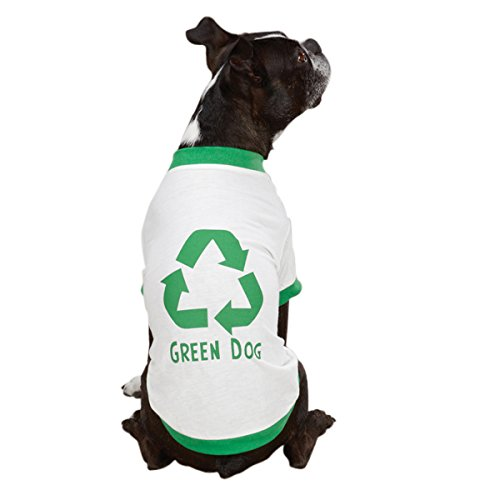 Pet Pals ZM9495 24 95 Casual Canine Green Dog Tee Xlg White P