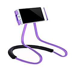 lazy bracket phone holder, Universal Mobile Phone Stand, Hanging on Neck Lazy Bracket, DIY Free Rotating Smart Phone Mount with Multiple Functions  Features: -- Universal smart cell phone stand, compatible for all size of phones from 4 to 7....