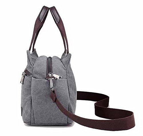 Weekend Crossed Women Bags Getaways Odomolor Ropbl180703 Gray Handbags fqzA5