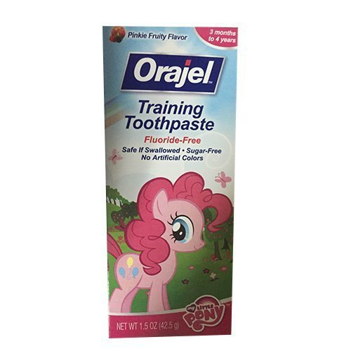 Orajel Toddler Training ToothPaste-Pinkie Fruity Flavor, 1.5 Oz. each (4 Pack)
