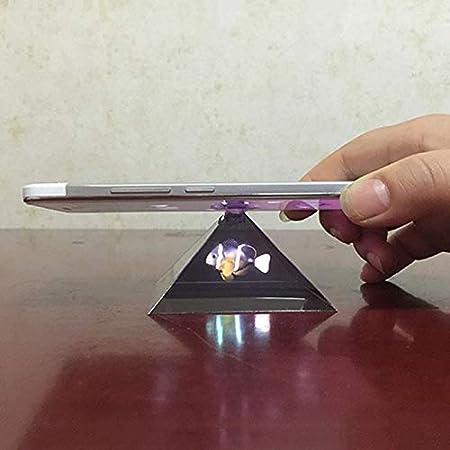 Vid/éo de projecteur de projection daffichage dhologramme 3D de Lanceasy portatif pour le t/él/éphone portable