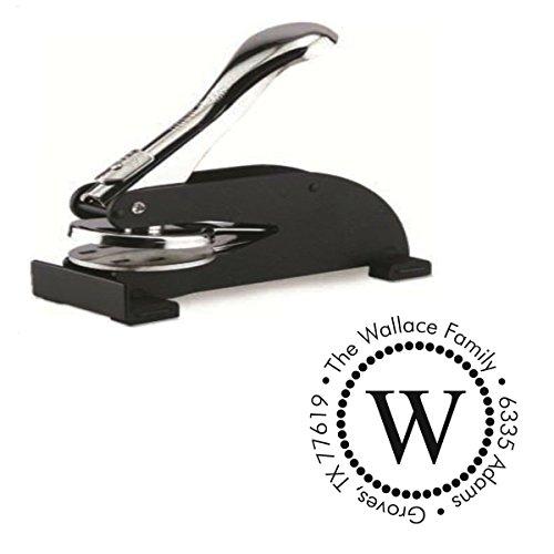 Shiny Custom Initial Design Desk Embosser Seal - 1.675