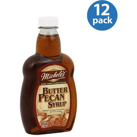 Michele's Butter Pecan Syrup, 13 fl oz, (Pack of 12) by Michele's