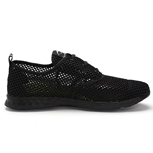eyeones Mens Lightweight Quick Drying Mesh Aqua Slip-On Water Shoes Black/Black zaaPttn