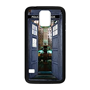 Doctor Who Tardis Open Door Pattern Image Case Cover Hard Plastic Case for Samsung Galaxy S5 i9600 Regular