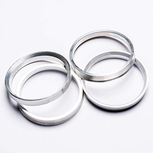 4 Pieces Aluminum Hub Centric Rings for BMW 74.1mm OD to 72.6mm ()