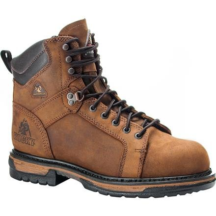 Rocky Men's Iron Clad Six Inch LTT Steel Toe Work Boot,Brown,8 M US