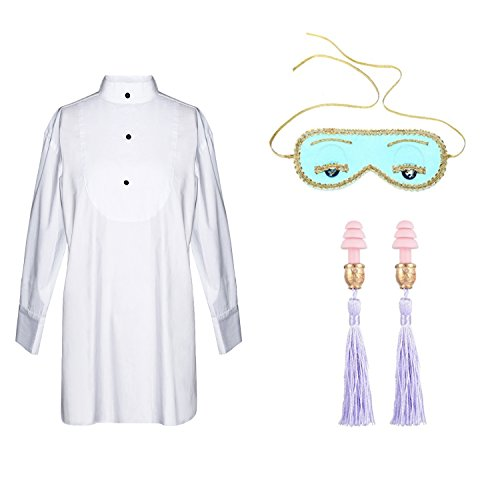 Sleep Set from Audrey Hepburn Breakfast at Tiffany's (set includes sleep shirt/eye mask/tassel ear plugs) (petite)