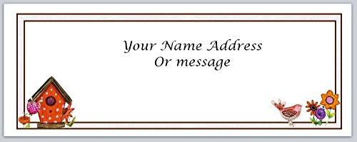 (120 Personalized Address Labels Primitive Country Birdhouse (c 452))
