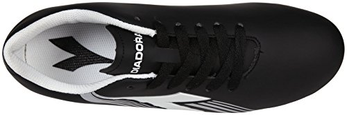 Diadora Soccer Avanti MD JR Soccer Shoe (Toddler/Little Kid/Big Kid),Black/White/Silver,5.5 M US Big Kid