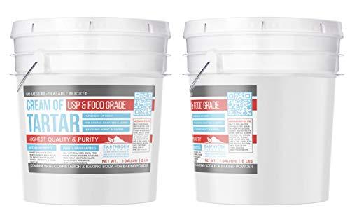 Cream of Tartar (1 Gallon) by Earthborn Elements, Resealable Bucket, Highest Purity, Baking Additive, Non-GMO, Kosher, Gluten-Free, All-Natural, DIY Bath Bombs by Earthborn Elements (Image #2)