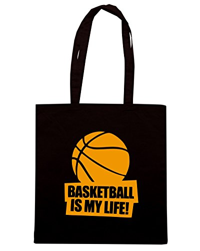 T-Shirtshock - Bolsa para la compra SP0029 Basketball is my Life Maglietta Negro