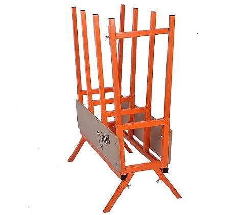 AUFUN 76x50x103cm S/ägebock Stahl Zusammenklappbar S/ägegestell bis 200kg belastbar f/ür S/äge Kettens/ägen-Schnitt Holzs/ägebock