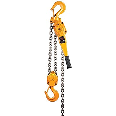 "Harrington LB Series Steel Lever Hoist, 10.4"" Lever, 2 Ton Capacity, 20' Lift Height, 1.4"" Opening, 14.8"" Headroom"