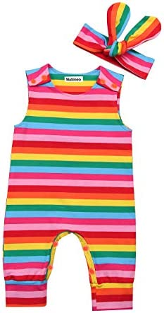 Infant Summer Rainbow Bodysuit Clothes product image