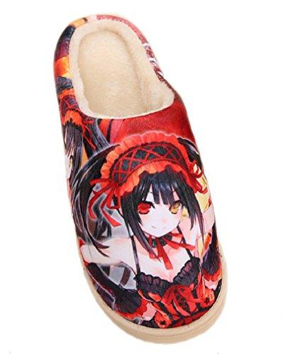 Bromeo Date A Live Anime Super Doux Chaud Maison Chaussons Mignon Peluche Chaussures