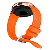Soft Silicone Watch Band Replacement Band Strap for Samsung Galaxy Watch 42mm (Orange)