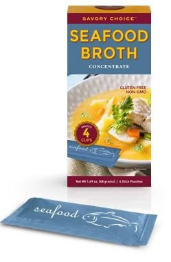 - Savory Choice Liquid Seafood Broth Concentrate, 1.69 Ounce Box