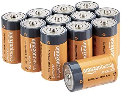 AmazonFundamentals D Cell 1.5 Volt Everyday Alkaline Batteries - Pack of 12 (Packaging would possibly range)