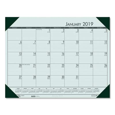 House of Doolittle 2019 Monthly Desk Pad Calendar, EcoTones, Green Paper, 22 x 17 Inches, January - December (HOD12471-19)