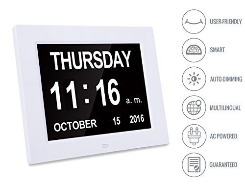 -[ Large Digital Clock -The Original Memory Loss Digital Calendar Day Clock with Extra Large Non-Ab