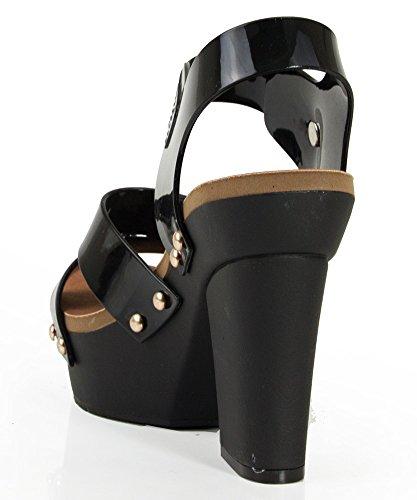 71e4774ab4f Nature Breeze Tegan Open Toe Strappy Jelly Platform Sandals - Import ...