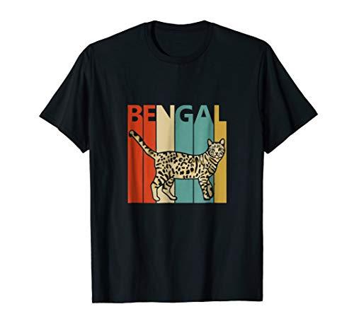 Retro Vintage Bengal Cat T-shirt
