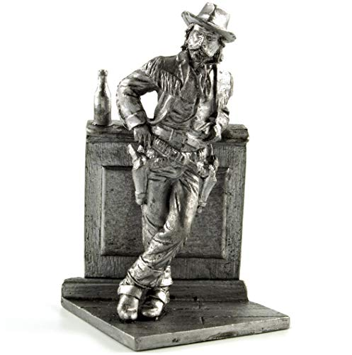(US Army. Buffalo Bill Cowboy Metal Sculpture. Collection 54mm (Scale 1/32) Miniature Figurine. Tin Toy Soldiers)