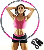 IYUT Fitness Exercise Hoola Hoop for Adults Weight Loss-Weighted Hoola Hoop 8 Section Detachable 2LB Premium Q