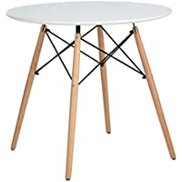 Kitchen Dining Table White Round Coffee Table Modern...