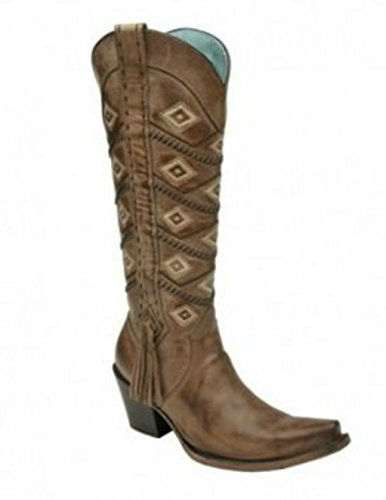 Corral Beige Womens Diamond an Whip Stitch Boots Tan/Beige fmv5i