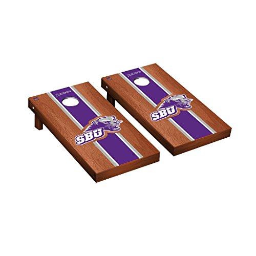 - Victory Tailgate Southwest Baptist University SBU Bearcats Regulation Cornhole Game Set Rosewood Stained Stripe Version