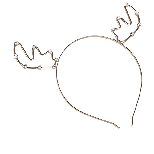 Ztl Women Girls Rhinestone Antlers Headband Party Holiday Hair Band Headwear