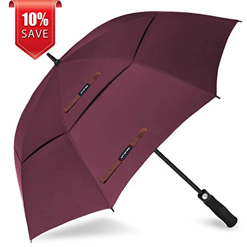 ZOMAKE Golf Umbrella Windproof Large 68 inch Double Canopy Automatic Open Umbrella for Men – Vented Sun Umbrella – Stick Umbrellas Review