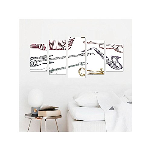 Wall Of Musical Instruments Living Room Saxophone
