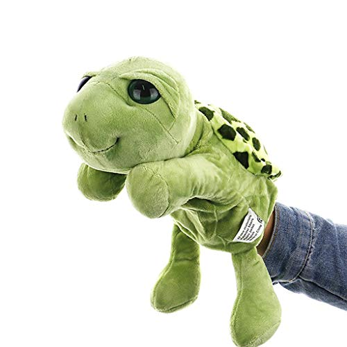 Unionm Kawaii Cute Turtle Hand Puppet Bedtime Cushion Soft Plush Toy Stuffed Animal Toy Baby Doll Gift for Adults/Kids/Boys/Girls/Dogs/Cats - Turtle Puppets Infant