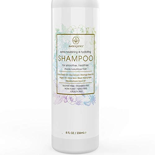 Natural & Organic Sulfate Free Shampoo - Premium Moisturizing Hair Shampoo for Luxurious, Healthier Hair With Argan Oil, Kiwi, Kukui, Moringa Seed & More for Thin, Frizzy, Dry Hair 8oz Era-Organics ()