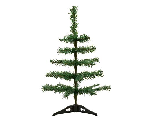 (2 Small Christmas Trees. Table Top Counter Desk Christmas Tree. Winter Mini Christmas Tree Decoration Decoration. 18ins.)