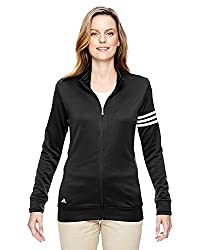 Adidas Womens Climalite 3-stripes Pullover A191 -Black White S
