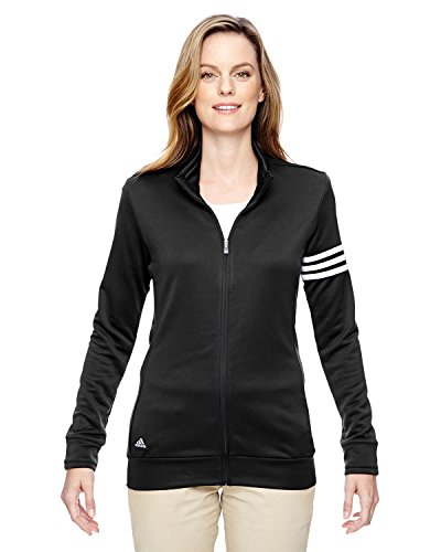 adidas Womens Climalite 3-Stripes Pullover (A191) -Black/Whit -M (Red Adidas Tracksuit Women)