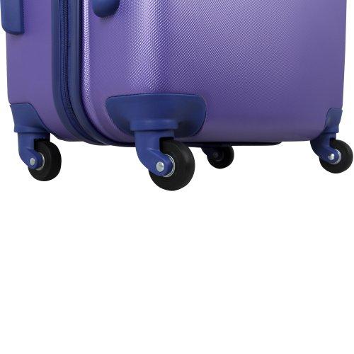 Anne Klein Luggage Fast Lane 3 Piece Hardside Luggage Set, Aqua/Violet, One Size>