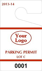 hanging parking permit template free - plastic toughtags parking permit templates