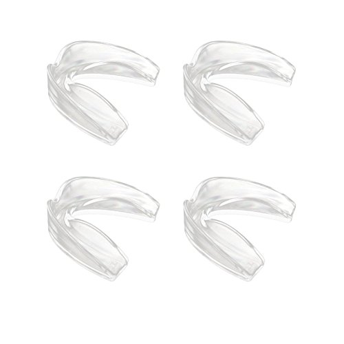 Sport Mouth Guards AIWAYING Teeth Armor Professional 4 Pack Safe Clear Color No Color Additive Athletic Teeth Mouth Guards Fit Any Mouth Size Custom Fit LYSB01G45I2IQ-SPRTSEQIP