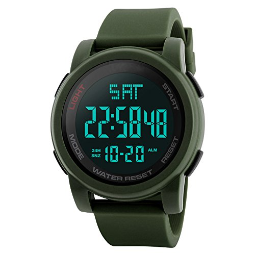 green digital watch with timer - 5
