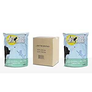 Just the Crystals 2-Pack. Longest Lasting Premium Crystal Cat Litter Absorbs More, Fragrance Free, Best Odor Control. Conveniently Packaged in Two Pre-Measured 4.4lb Bags Per Box (Total 8.8lbs) 84