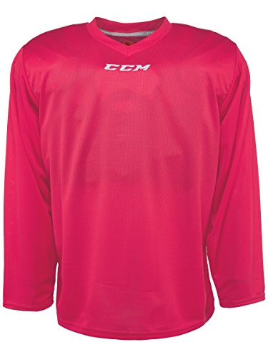 Pink Hockey Jersey - CCM 5000 Series Hockey Practice Jersey - Junior - Pink, Small/Medium